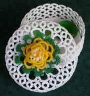 Judith's Lacey Basket & Lid Photo courtesy of Judith Connors