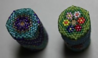PURPLE BARGELLO and BUTTERFLY GARDEN NEEDLE CASES (top vies)